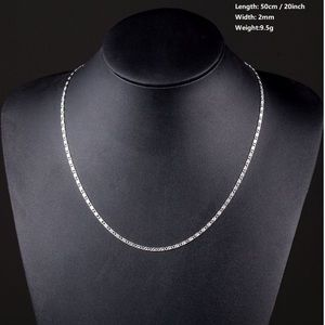 Coming Soon! 18k. White Gold Filled Chain Necklace